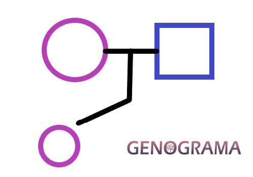 hijos en un genograma